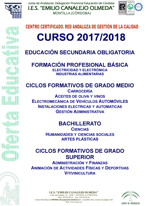 Oferta Educativa Ies Emilio Canalejo Olmeda
