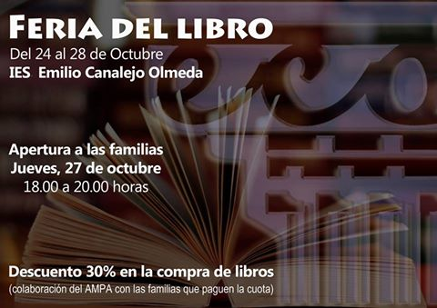 Feria del libro en el IES Emilio Canalejo Olmeda