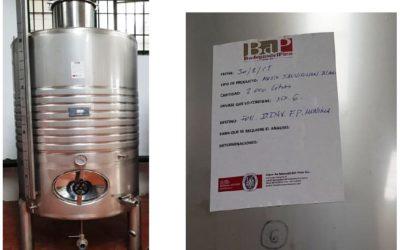 Elaboración de vino blanco joven criado sobre lías finas