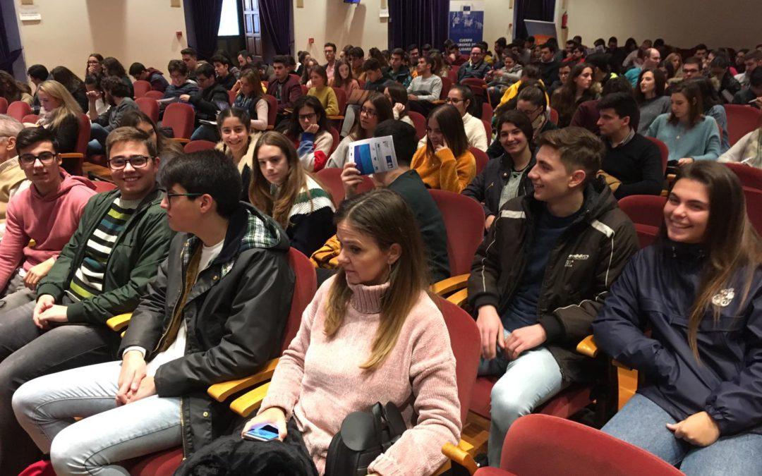 Alumnos del proyecto Forma Joven y Escuela Espacio de Paz asisten a las IV Jornadas Empleo y Formación en las instituciones de la Unión Europea