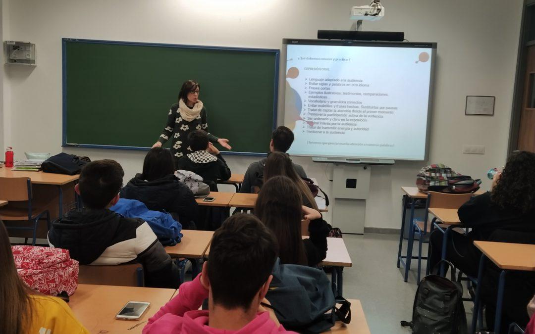Taller sobre «Presentaciones Eficaces» para alumnos de 4º de ESO