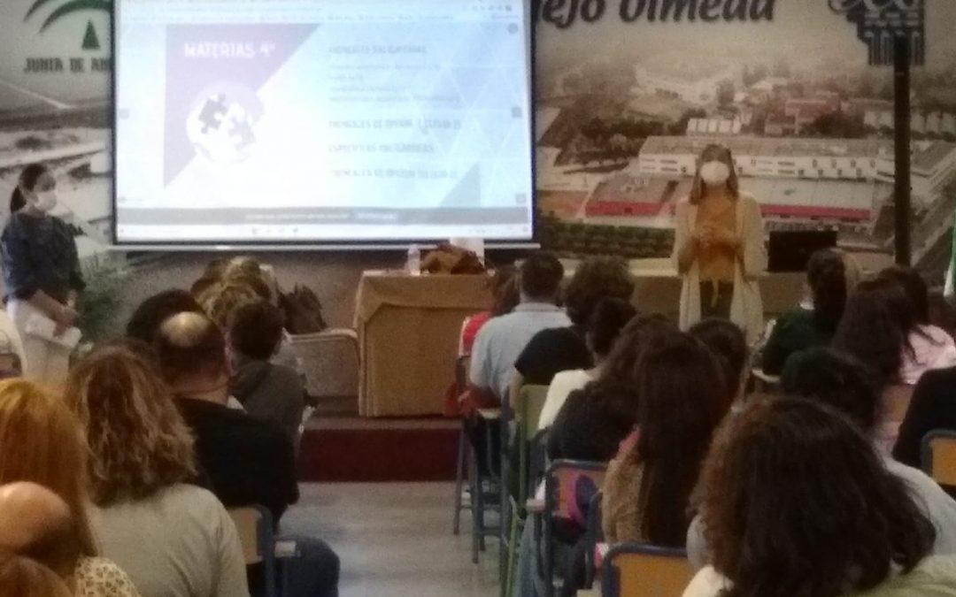 Sesiones de orientación académicos para los alumnos de nuestro centro